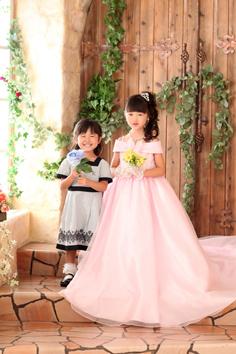 ゆきのちゃんあやのちゃんドレス姉妹写真伊勢崎