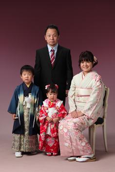 るきくんちづるちゃん家族写真