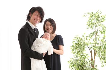 ほのりちゃんお宮参り家族写真伊勢崎