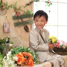 七五三群馬伊勢崎前撮り5歳こうすけ君洋装自然光タキシード