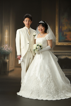 婚礼写真フォトウエディング群馬伊勢崎写真館t白ドレス持込み