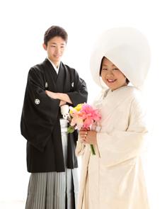 婚礼写真フォトウエディング群馬伊勢崎写真館t白無垢綿帽子