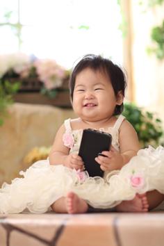 こはるちゃん1歳記念ドレス伊勢崎写真館