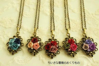 小さな薔薇の小さなネックレス6