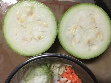 丸ズッキーニ料理4