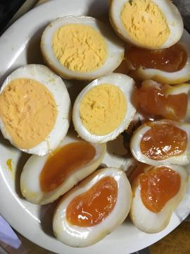 燻製卵と豆腐9