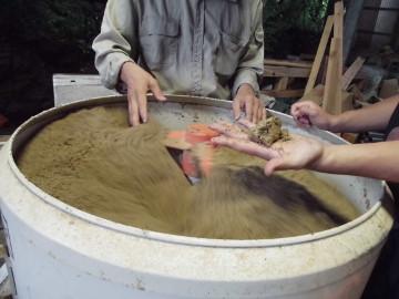 ボカシ作りとさつま芋苗植え4