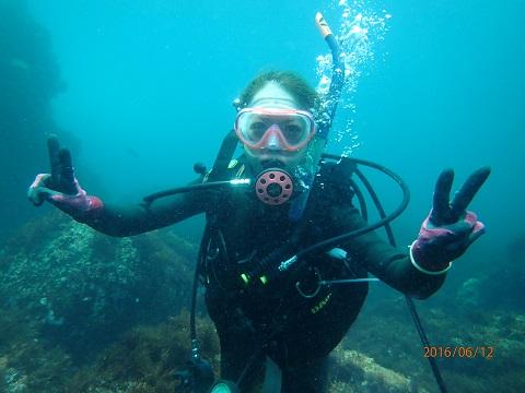 海洋実習中