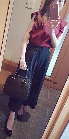 ボルドー秋ファッション