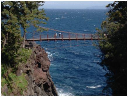 伊豆 竜ケ崎の吊り橋