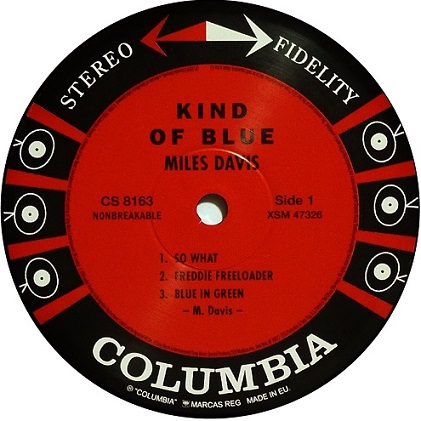 Miles Davis Kind Of Blue Columbia CS 8163 Rerelease
