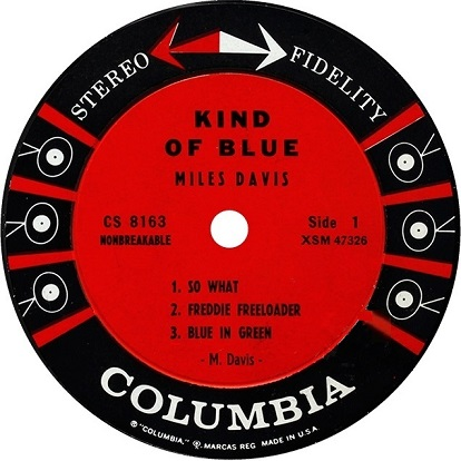 Miles Davis Kind Of Blue Columbia CS 8163