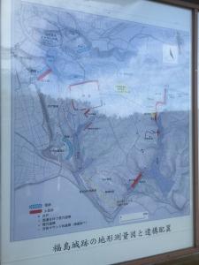 福島城全体調査結果・地図