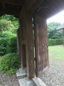 代官所の現存門(内部)