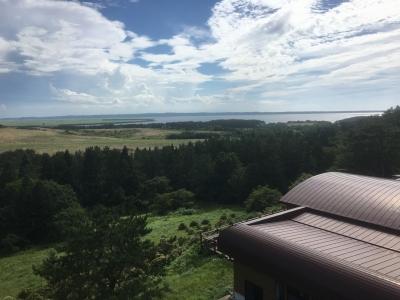 展望台から臨む十三湖