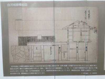 櫓門の設計図の一部