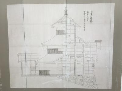 三階櫓の設計図の一部