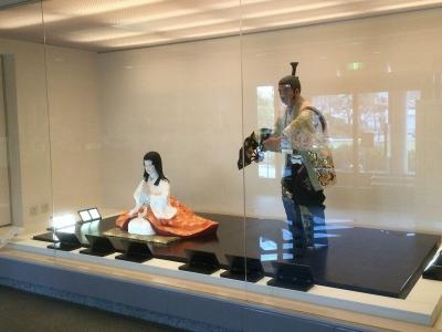 最上義光と駒姫の人形展示