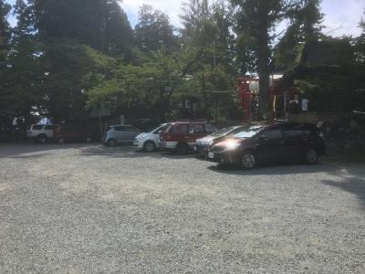 駐車場(おそらく二の郭)