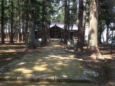 成島八幡神社。主郭と思われる