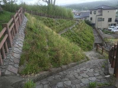 仁賀保神社の南側にある歩道