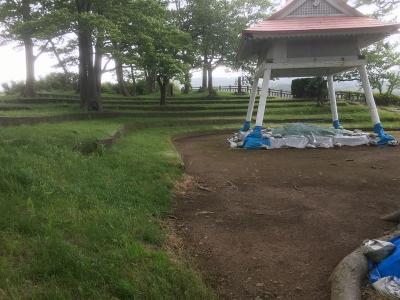 仁賀保神社の南東にある相撲場
