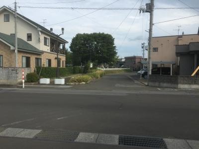 津軽中学校の東側にある公園