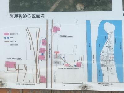 町屋の説明板のうち、配置などのアップ