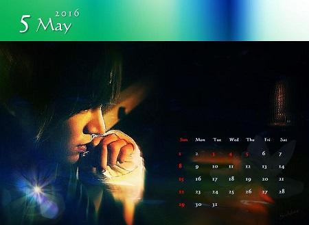 2016カレンダー5月A
