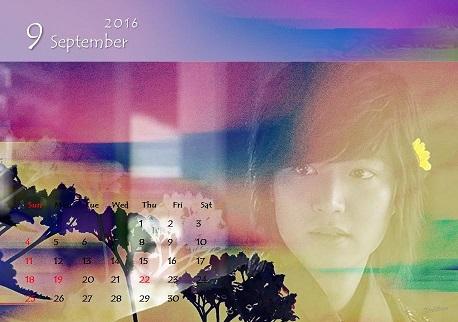 2016 カレンダー9月