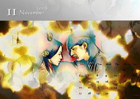 2016 カレンダー11月 bb