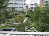 マンション中庭