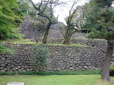 金沢城_東の丸東面石垣