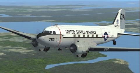 Douglas_DC-3_Dakota_C-47_Skytrain PIN 9