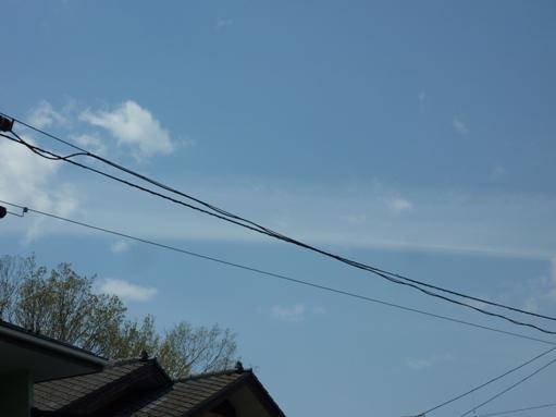 長く纏まった雲、気になる雲