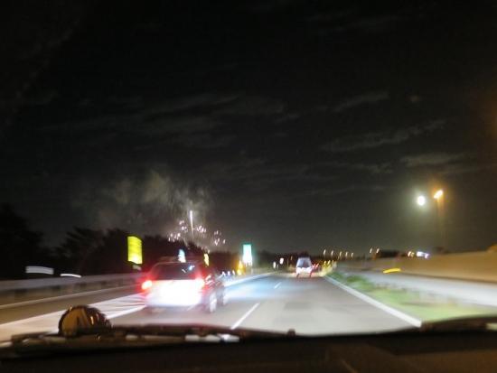 月と浜名湖弁天の花火