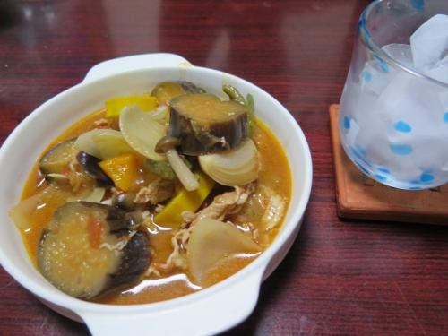 夏野菜と豚肉のトマト煮