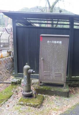中山道 妻籠宿 消火栓