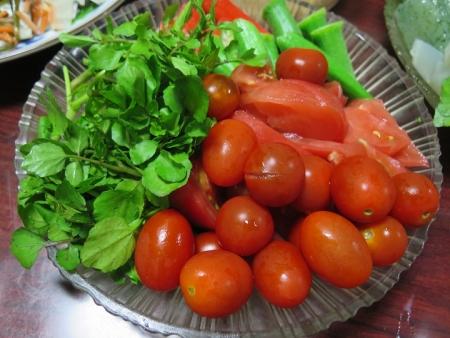 クレソンとプチトマトのサラダ