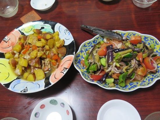 夏野菜のあげびたし,インカの目覚めの肉じゃが