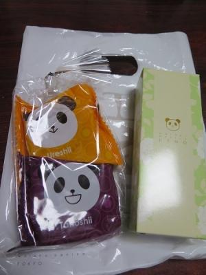 おけいさんから頂いたパンダちゃんお菓子