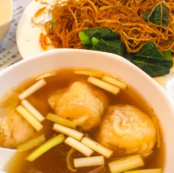 蝦子浄雲吞+撈麺