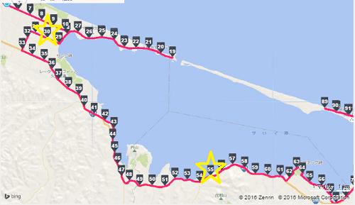 サロマの地図30~55Kまで1