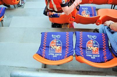 南長野 指定席の座布団