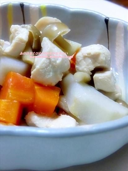 里芋と鶏肉のシンプル煮♪