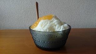 160805ヨーグルトとマンゴーのかき氷