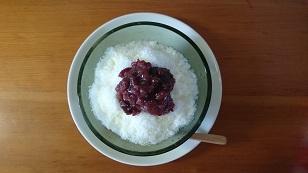 160807小豆と練乳のかき氷