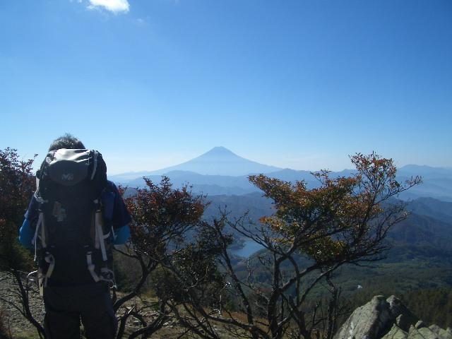 富士山に見とれてる