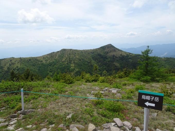 烏帽子岳稜線