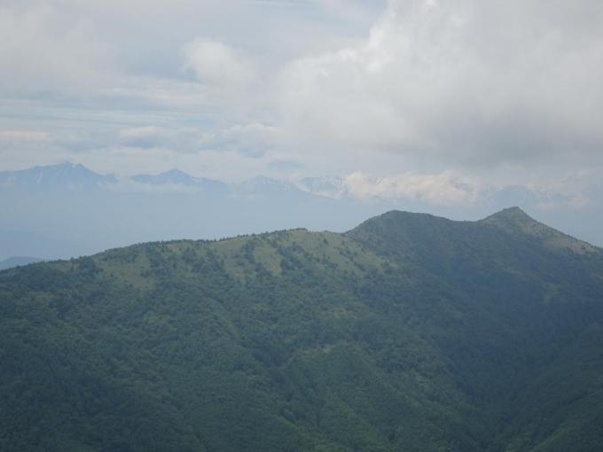 見晴岳から烏帽子岳、後立山